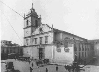 Largo da Sé, em, 1907. Foto Aurélio Becherini