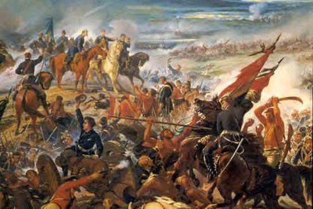 Pintura representando a Guerra dos Emboadas