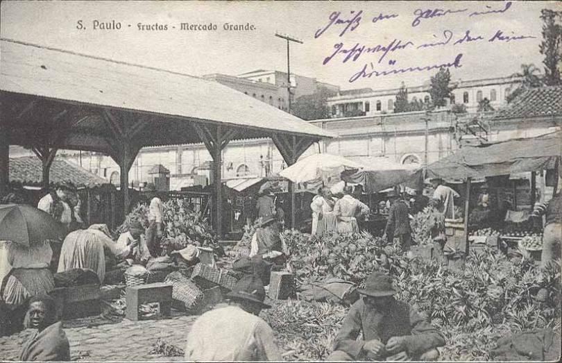 Mercado dos Caipiras em 1910.