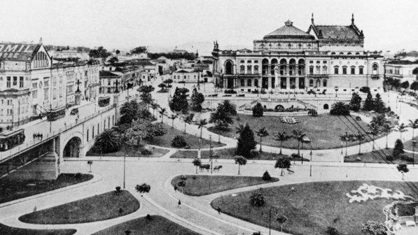 Theatro Municipal em 1922.