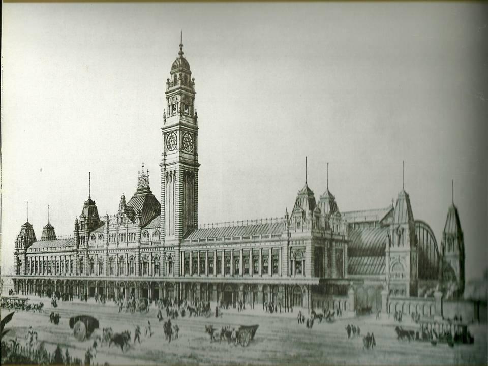 Pintura da Estação da Luz em 1903.