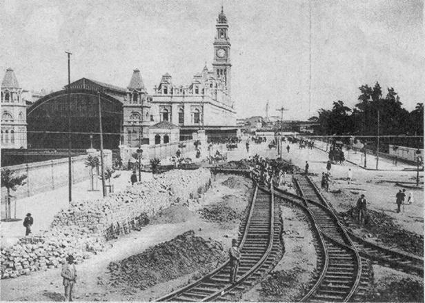 Estação da Luz no ano de 1902