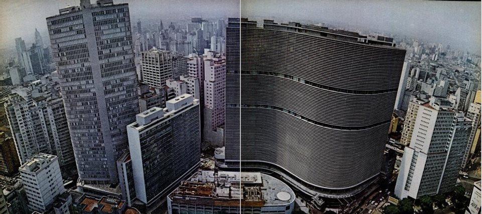 Registro do Edifício Itália e do Copan em 1967.