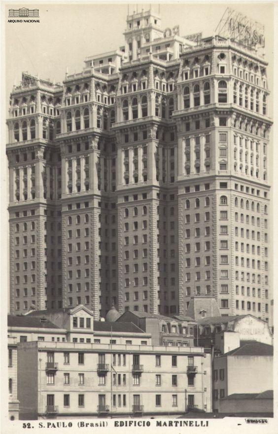 O edifício Martinelli em 1933