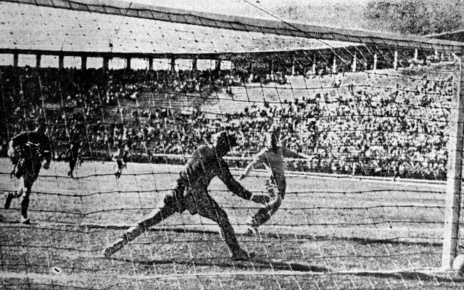 Pacaembu recebeu seis jogos na Copa do Mundo de 1950, incluindo Brasil 2 x 2 Suíça.