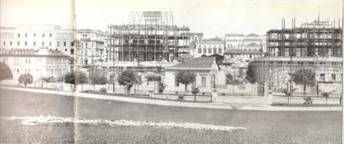 Construção dos palacetes gêmeos do Conde de Prates, na década de 1900.