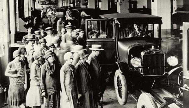ábrica da Rua Sólon, no Bom Retiro, recebia visitantes para acompanhar a linha de montagem do Ford T.