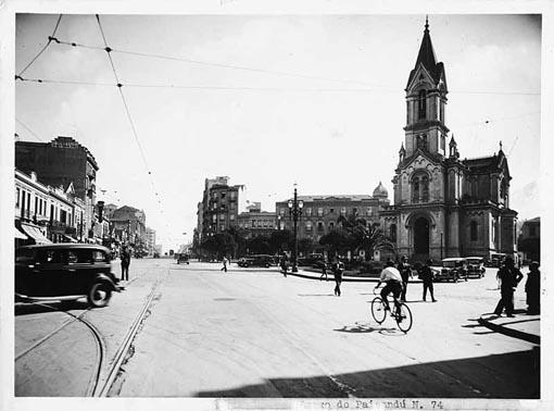 Largo do Paissandu em 1935.