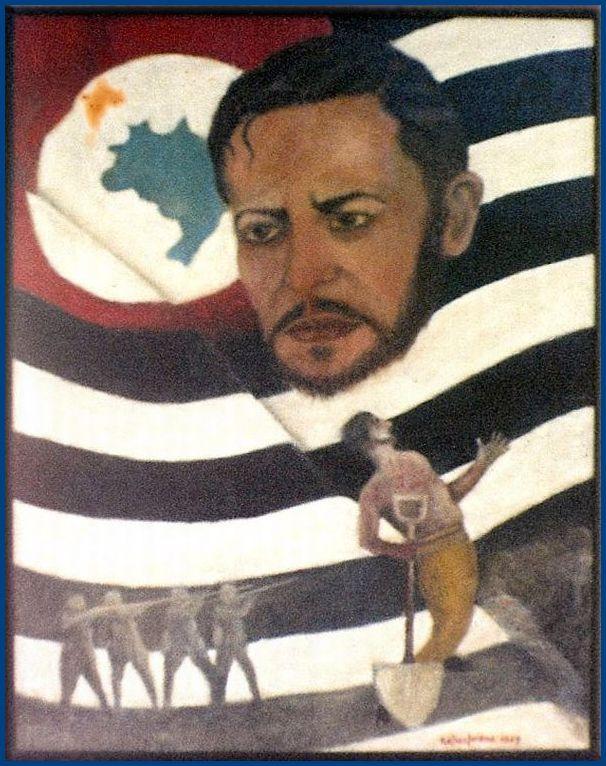 Alegoria a Paulo Virgílio, em óleo sobre tela pelo artista cachoeirense Nelson Lorena. Do acervo da Família Lorena.