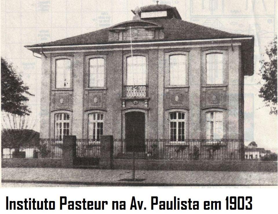 Instituto Pasteur na Av. Paulista em 1903