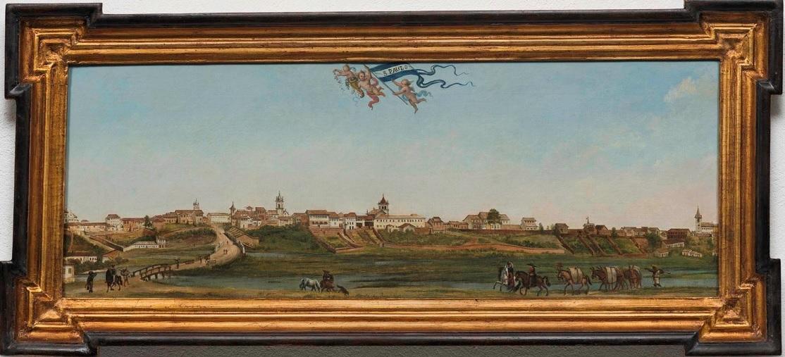 Panomarama da Cidade de São Paulo, 1821. Óleo sobre tela. Armand Julien Pallière.