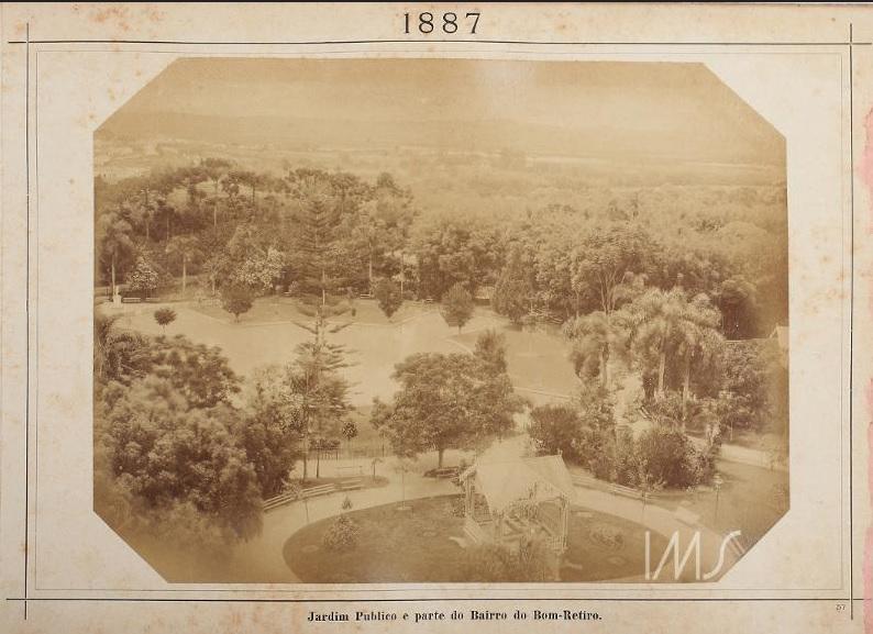 Jardim Público e parte do Bom Retiro em 1887.