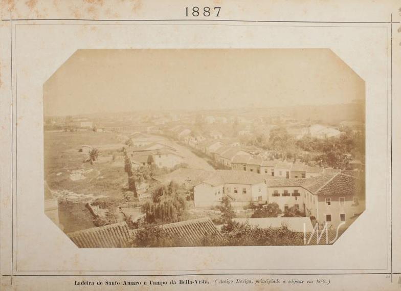 Ladeira de Santo Amaro e o Campo da Bela Vista em 1887.