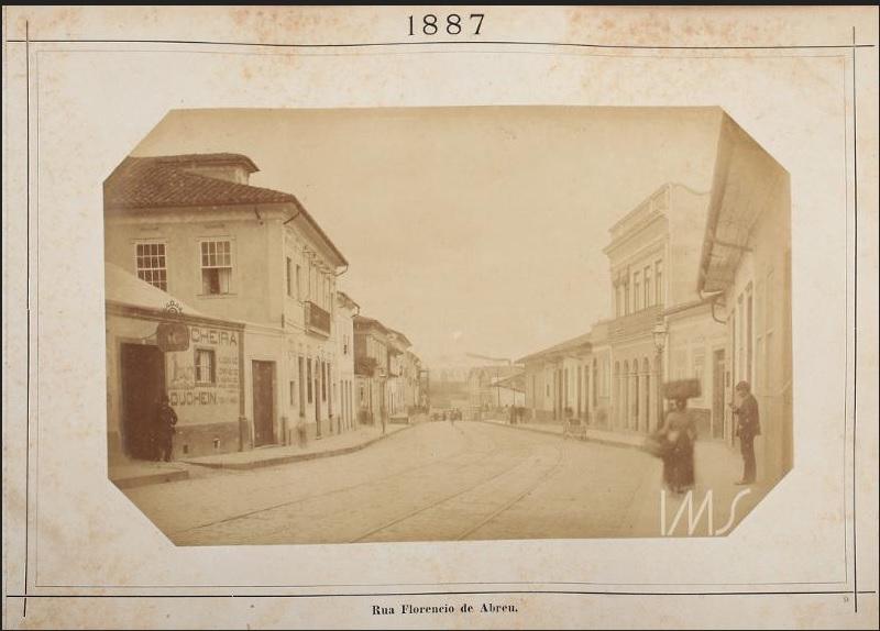 Rua Florêncio de Abreu em 1887.