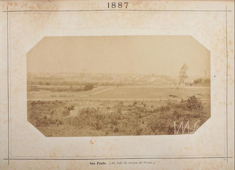 Vista da Região Central da Cidade em 1887.