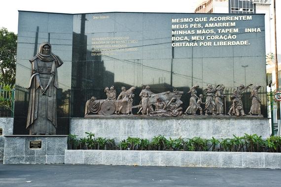 O monumento em São Paulo.