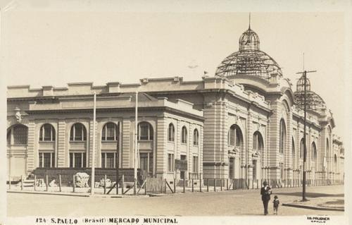 Mercado Municipal da Rua da Cantareira, em construção, no ano de 1932.