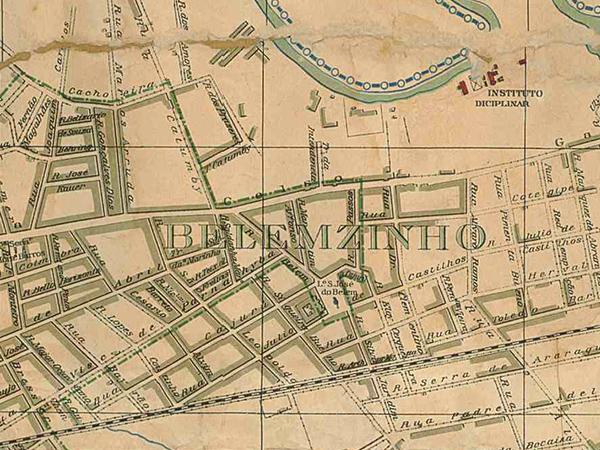 Mapa do Belenzinho em 1916.