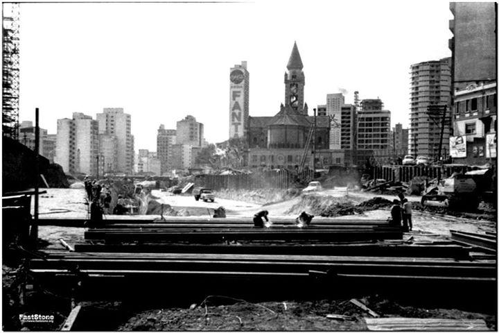 Obras do Minhocão e da Praça Roosevelt