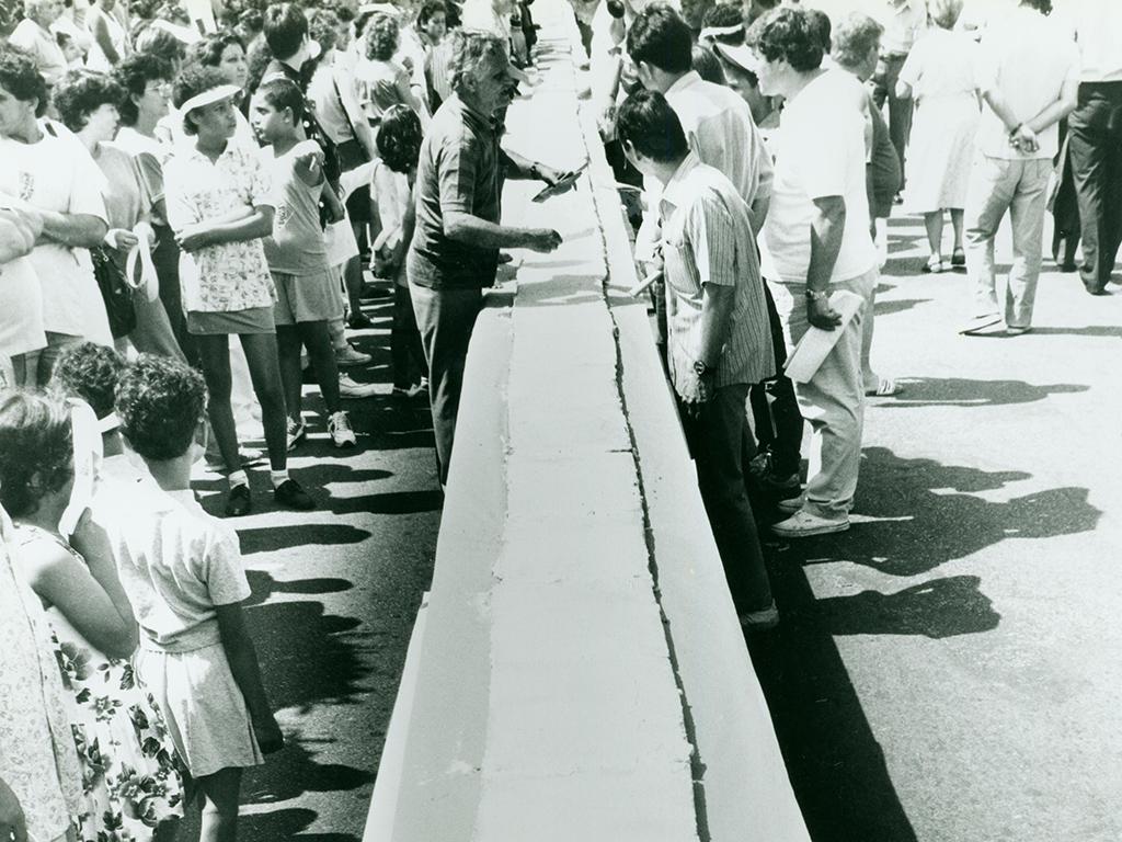Registro do Bolo do Bixiga em 1992