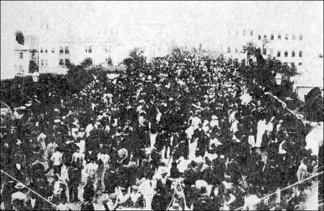 Dia de inauguração do Viaduto