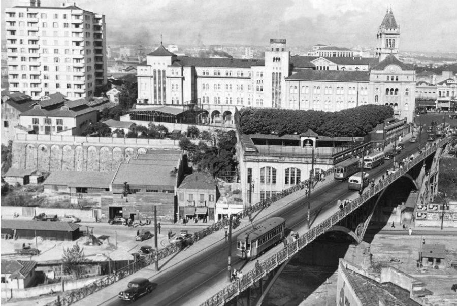 Viaduto Santa Ifigênia nos anos 40