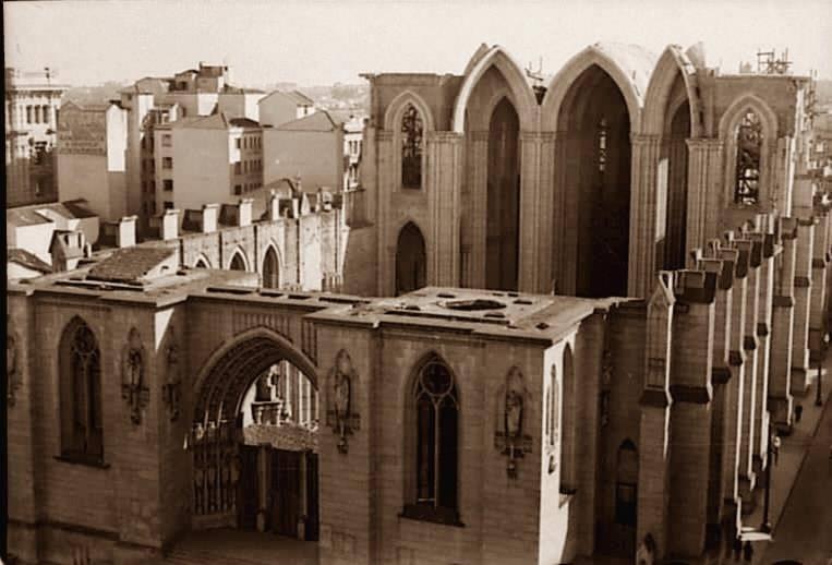 Catedral da Sé, em construção, no ano de 1939