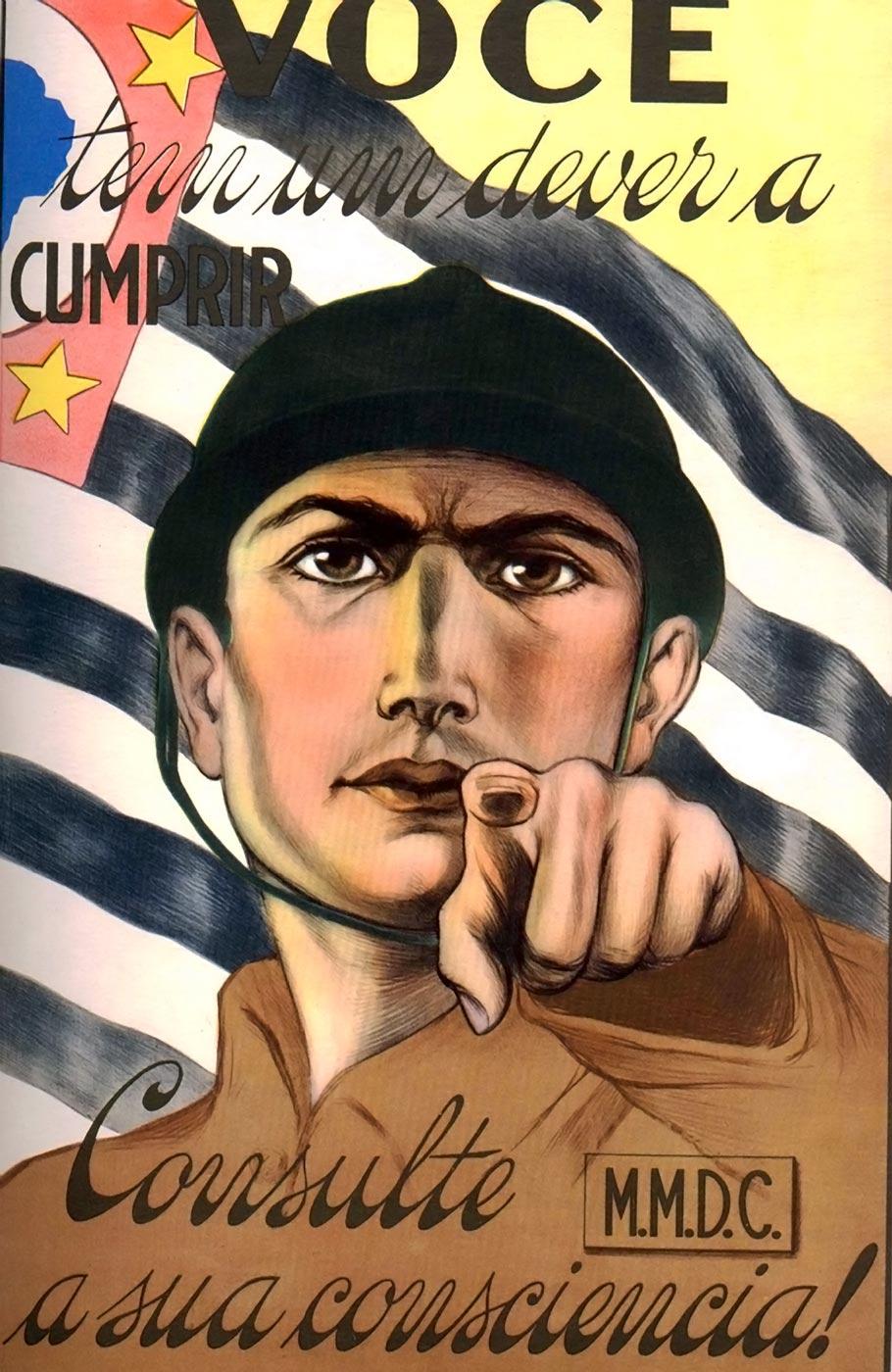 Ilustração da Revolução de 1932.