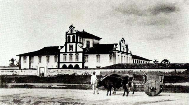 O Mosteiro da Luz em 1867.