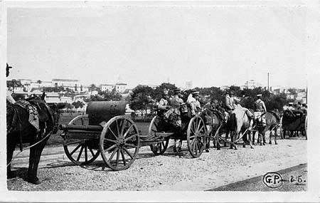 Tropas legalistas no Parque Dom Pedro II, durante a revolta de 1924.