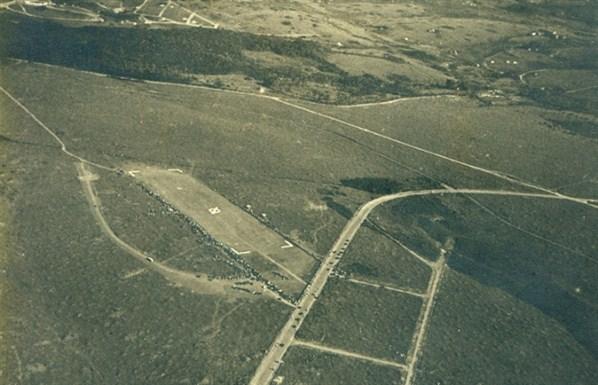 Vista aérea do Aeroporto de Congonhas em 1936.