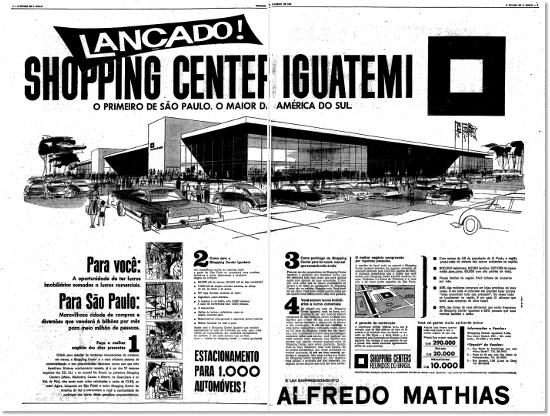 Inauguração do Shopping Iguatemi