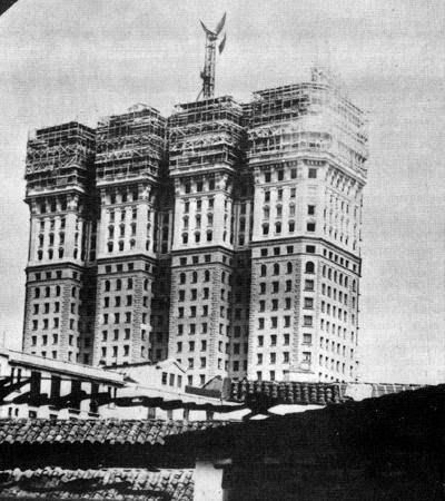 Martinelli, na época da construção, em 1929