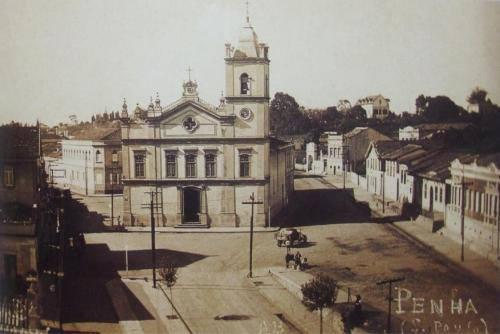 Igreja da Penha no final da década de 20.