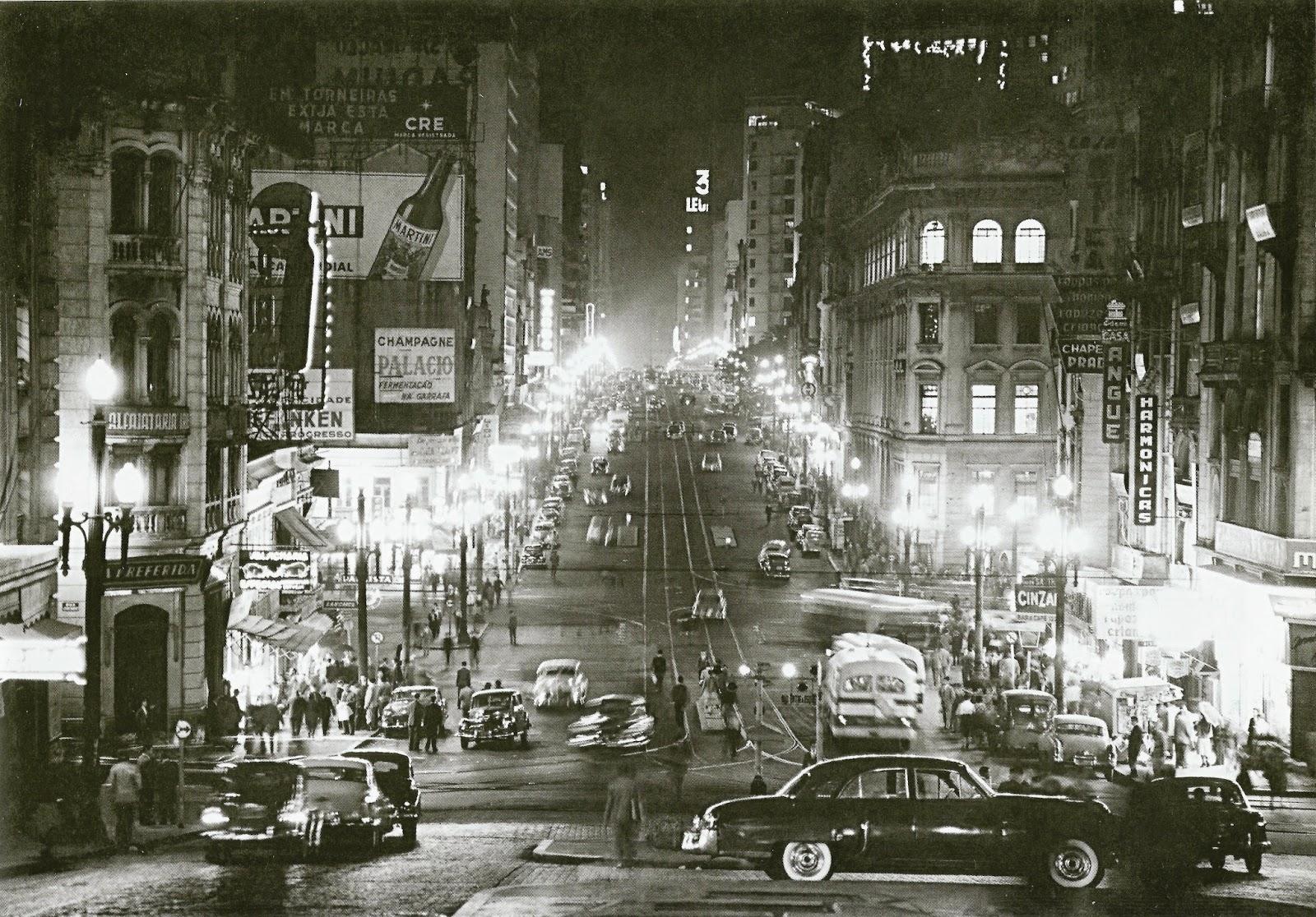 Avenida São João na década de 50
