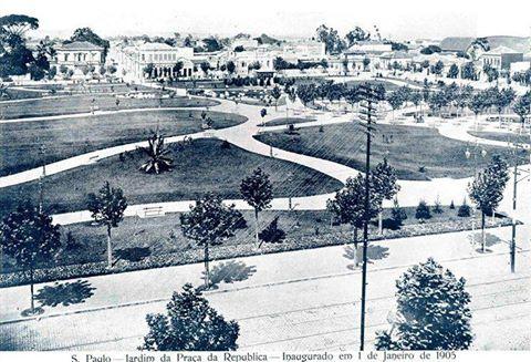 Praça da República em 1905.
