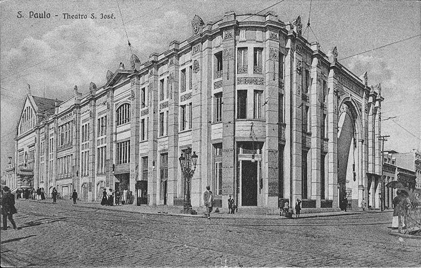 Teatro São José em 1900.