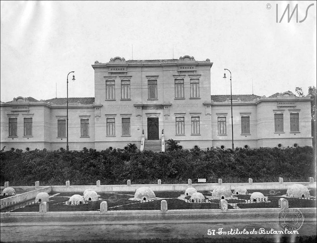 Instituto do Butantan em 1915. Foto de Guilherme Gaensly e do  IMS.