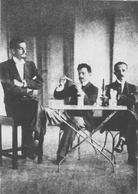 Da esquerda para a direita Bonilha de Toledo, Vital Brazil e Arthur Mendonça.