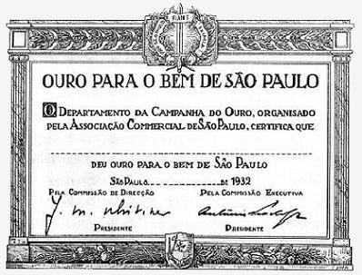 Diploma - Ouro Para o Bem de São Paulo