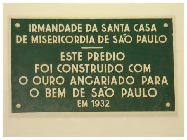 Placa - Ouro Para o Bem de São Paulo
