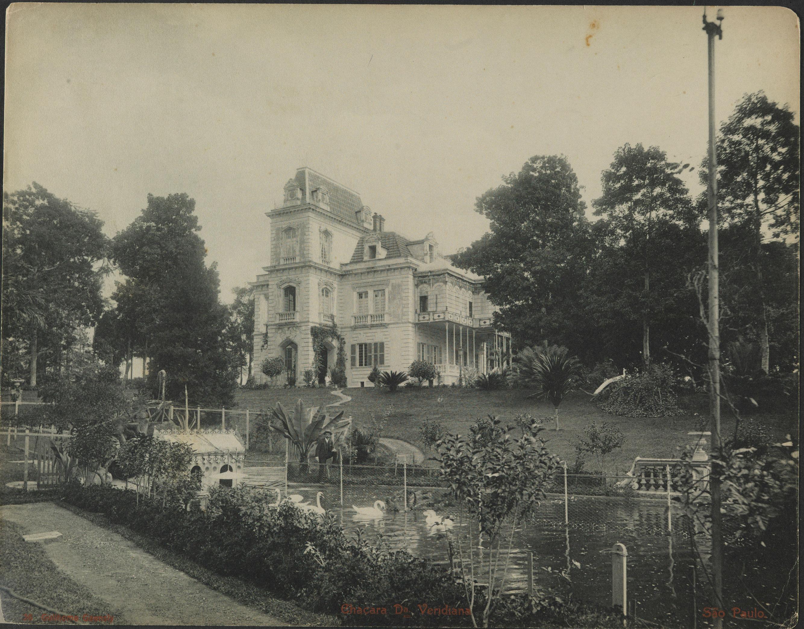 Chácara de Veridiana da Silva Prado em 1902.