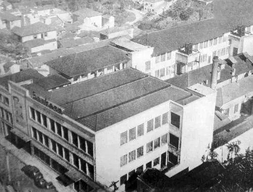 Fábrica de chocolates Sönksen na rua Vergueiro em 1959.