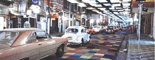 Rua Augusta com carpete.