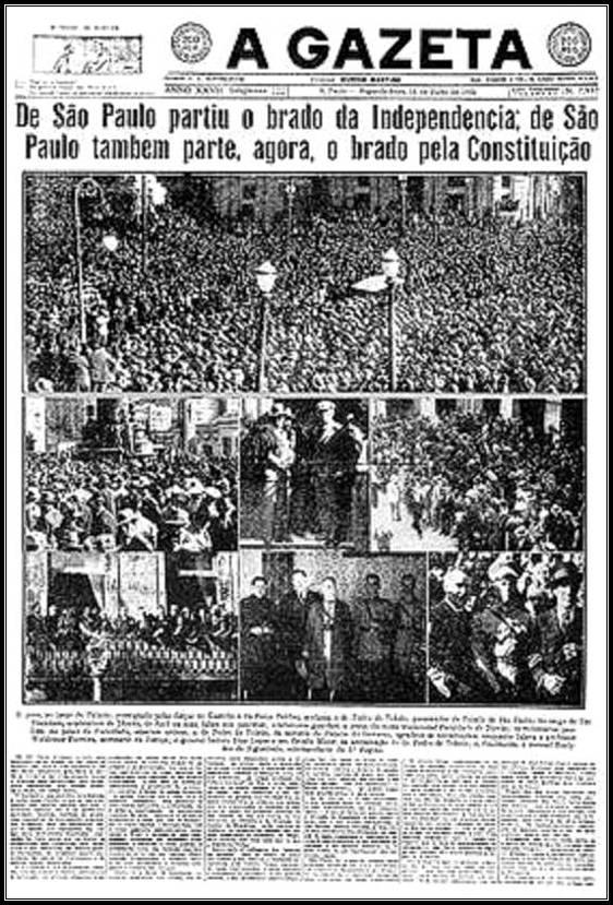 Capa do Jornal A Gazeta - 1932