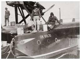 Hidroavião Jahú e seus corajosos tripulantes.