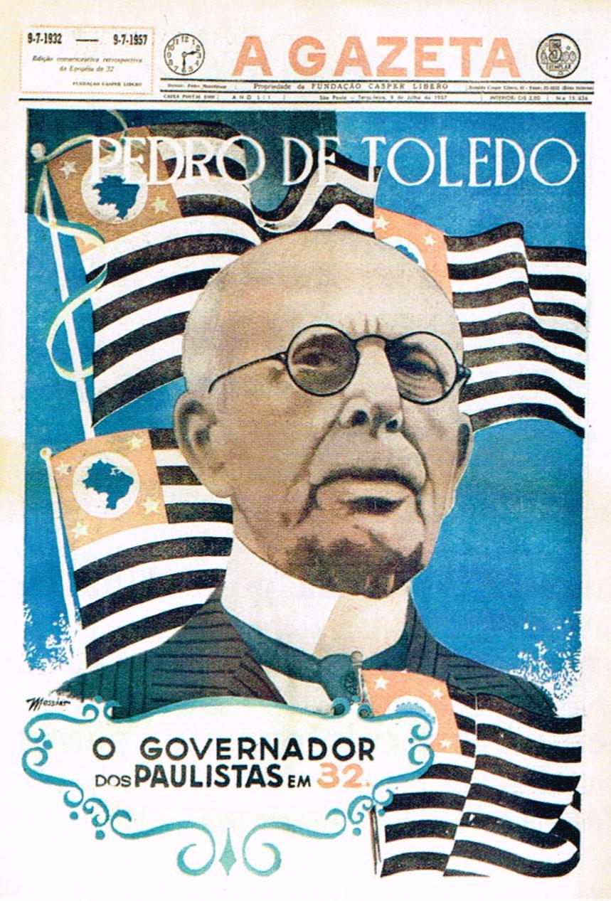 Capa Diário Nacional - Pedro de Toledo