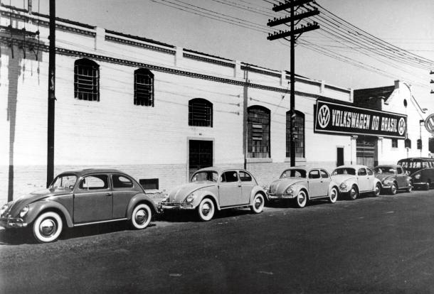 Armazém da Rua do Manifesto, no bairro do Ipiranga, em São Paulo, onde a Volkswagen do Brasil iniciou operações em 1953