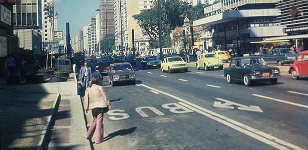1970, na avenida Paulista, São Paulo