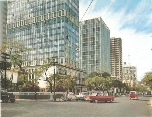 Cartão Postal da Avenida Paulista no final dos anos 60.